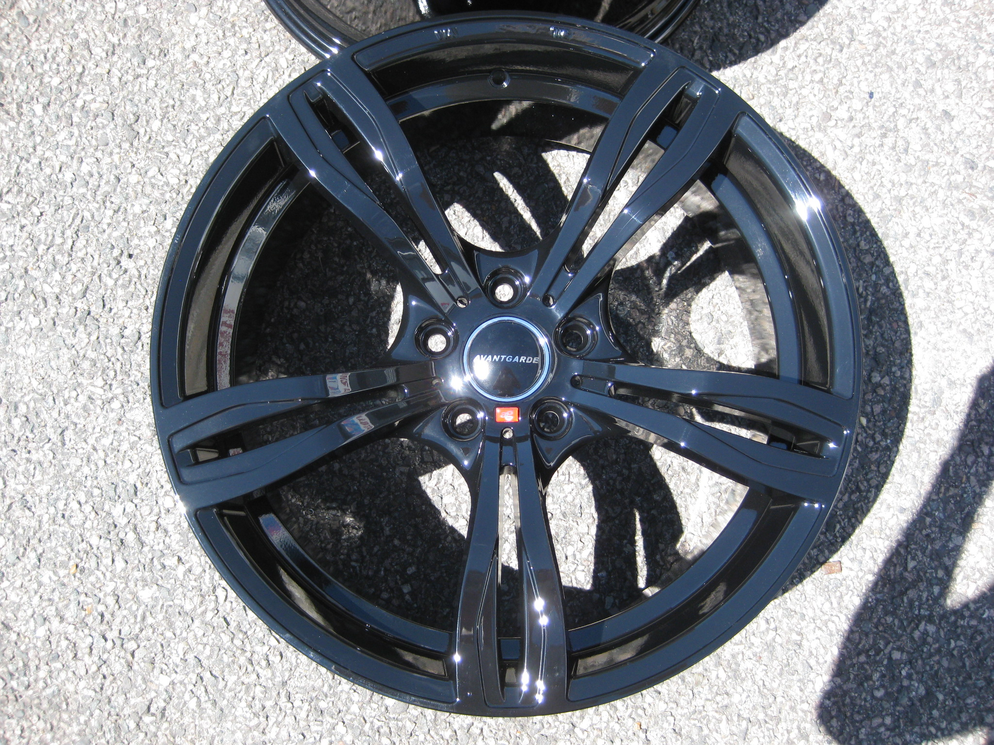 "NEW 19"" AVANT GARDE M355 FIVE SPOKE ALLOY WHEELS IN GLOSS BLACK DEEPER CONCAVE 10"" REAR"